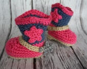 Baby Cowgirl Boots with Spurs - Cowgirl Boots - Cowboy Baby Booties - Western Boots with Spurs - by JoJo's Bootique
