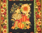 Reserved for Susan Autumn Wall Hanging , fall, pumpkins, fall leaves, fabric from Henry Glass
