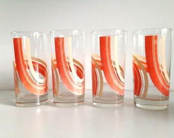 1970s Mod Graphic Glassware