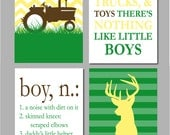 Farm Nursery, Hunting Nursery, Tractor Nursery, Deer Nursery Decor, Boy Sign, Deer Print, Boy Wall Decor, Tractor Chevron Nursery Art,