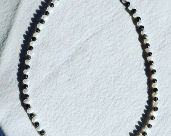 "17"" Freshwater Pearl and Smokey Quartz Necklace"