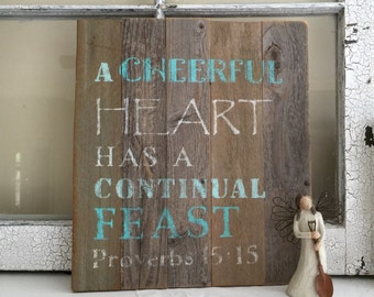 Barn Wood sign, farmhouse decor, rustic, word art, Christian art, hand made, gray browns