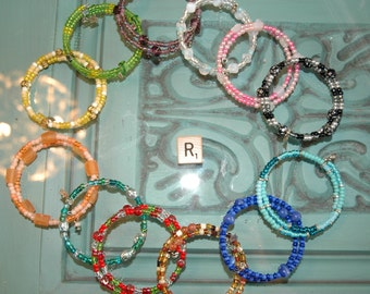 WHOLESALE LOT R OF 12 Double Loop Bracelet - Proceeds Benefit Cancer Research