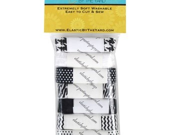 Midnight 7yd Sample Pack Fold Over Elastic