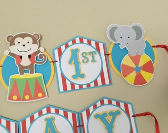 CIRCUS OR CARNIVAL Birthday Party Banner Sign