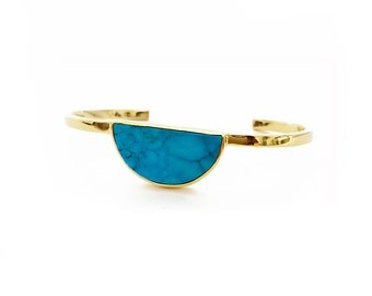 Moon Gazer stone bangle - Turquoise