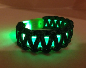 Green LED Light Up Bracelet. Great for St Patrick's Day. Great for Children. Fun for parties.