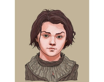 """ARYA 5x7"""" GAME of THRONES limited edition print"""