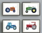 tractor art, tractor wall art decor, tractor nursery art prints, boy tractor art, farming art prints