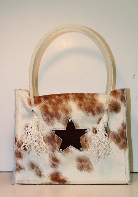 Cowhide Tote with a star
