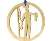 Catch Of The Day Fishing Christmas Ornament Handmade From Birch Plywood,