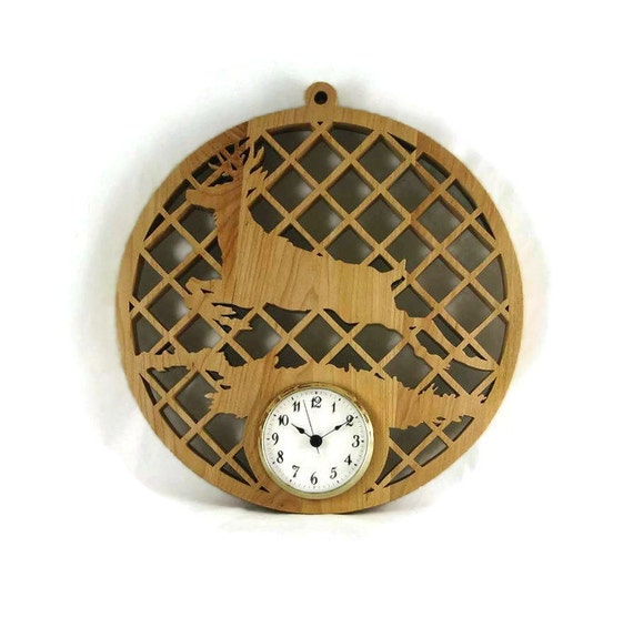 Deer Wall Hanging Clock Handmade From Maple Wood by Kevs Krafts