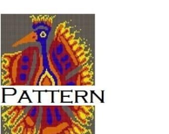 Firebird, tapestry bead pattern