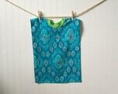 Towel Bib Blue and Pink XL toddler bib