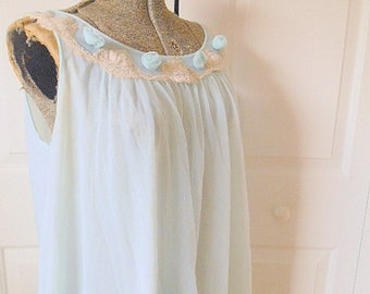 Vintage 60's A line romantic Nightgown