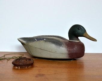 Vintage Duck Decoy Herter's Mallard with Weight