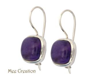 EE3070002) Amethyst Earrings, Purple Quartz Earrings, Purple Earrings, Amethyst Drop Earrings, Topaz Earrings, Bohemian Earrings, Dangle Ear