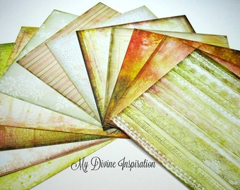 12 6 x 6 Prima Sunrise Sunset Paper Collection, Paper Assortment for Scrapbooking Mini Albums Cards Tags and Papercrafts