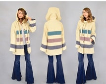 ANNIVERSARY SALE 80's WOOLRICH Hooded Blanket Coat