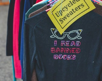 Embroidered Sweater, Banned Books
