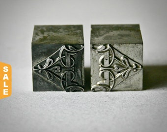 August is Letterpress Month - 20% off Vintage Letterpress Bracket Ornaments for Printing Stamping and Decor