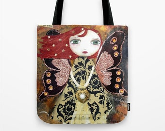 MOTHER NATURE FAIRY - Art Tote Bag with double sided image ~ Artist Alicia Hayes