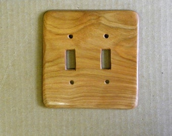 Vermont Curly Beech Double Light Switch Cover