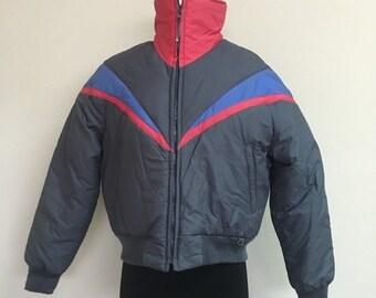 60% OFF Vintage 1980s Black Bear Winter Ski Snow Jacket M/L (d)