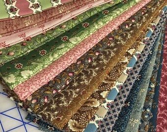 PAST ENDEARMENTS ~ 18 Civil War Reproduction Quilt Fabric Fat Quarters  by Judie Rothermel for Marcus Brothers