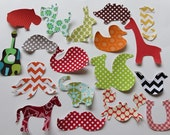 25 Assorted Gender Neutral Iron On Appliques Baby Shower Activity