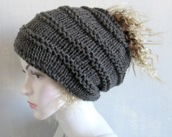 Plain dreadlock tube hat dread band Mens knit headband, wide hair accessory