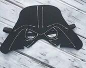 Layered Darth Vader Felt Mask Darth Vader Mask Star Wars Inspired Mask Birthday Mask