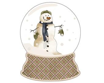 Set of 8 Christmas gift tags  holiday gift tags  holiday tags  christmas tags snowman gift tags  snowman globe tags