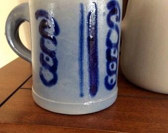 Vintage Salt Glaze Pottery Mug