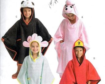 Butterick 4381 Children's Flower Animals Fireman Cover-Up Sewing Pattern UNCUT