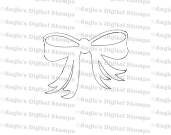 Bow Digital Stamp Image