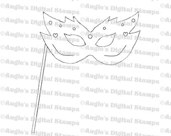Masquerade Ball Mask Digital Stamp Image