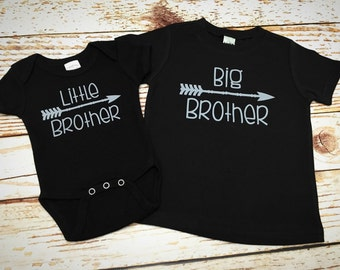 Big Brother Little Brother matching shirts- Big Brother shirt- Little Brother Shirt- Big Brother- Sibling Shirts- Matching Brother Shirts