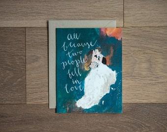 Wedding card - newlyweds - greeting card - engagement
