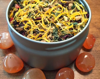 Sacral Chakra Tea, Organic Herbal Tea - Helps promote lower digestive health naturally while balancing the sacral chakra