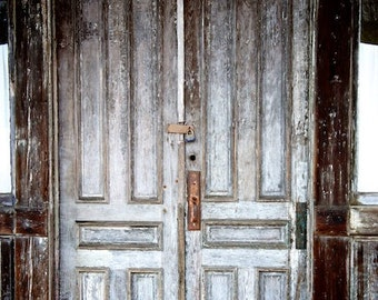 Door Photograph, Foyer Wall Decor, Old Door Picture