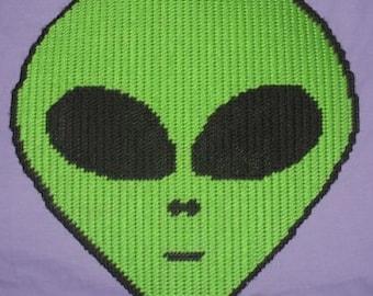 Alien Head Plastic Canvas Pattern
