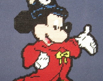 Sorcerer Mickey Mouse Plastic Canvas Pattern