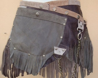 """20%OFF bohemian tribal gypsy fringed leather belt..30"""" to 38"""" waist or hips.."""
