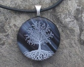 Tree of Life Necklace  Fused Glass Tree Pendant