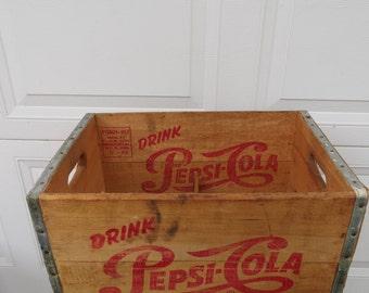 Vintage Wooden Pepsi Cola Crate.