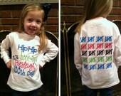 100th Day of School Shirt - longsleeve