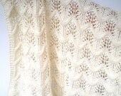 RESERVED Baby Shawl Blanket Baby Merino Wool Lace Design  CUSTOM ORDER