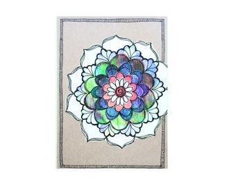 Paper Flower Garden series 1 - 5x7 (PFGL-0006) - Handmade Blank Card -