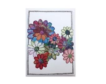 Paper Flower Garden Series on White (PFGW-0003)